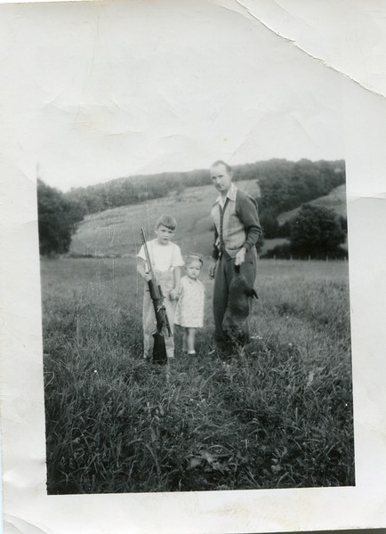 1940's Bob Marlene Francis hunting woodchucks