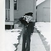 1944 RObert VanDeventer on back says - Bobbie don't like the bright sunshine as you see March
