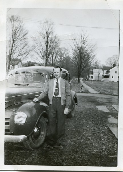 Francis VanDeventer with car