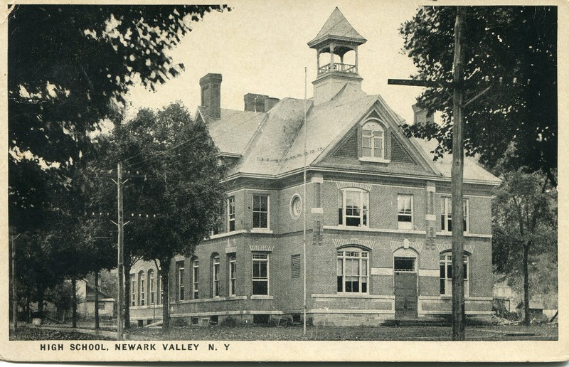 Newark Valley High School postcard from 1930