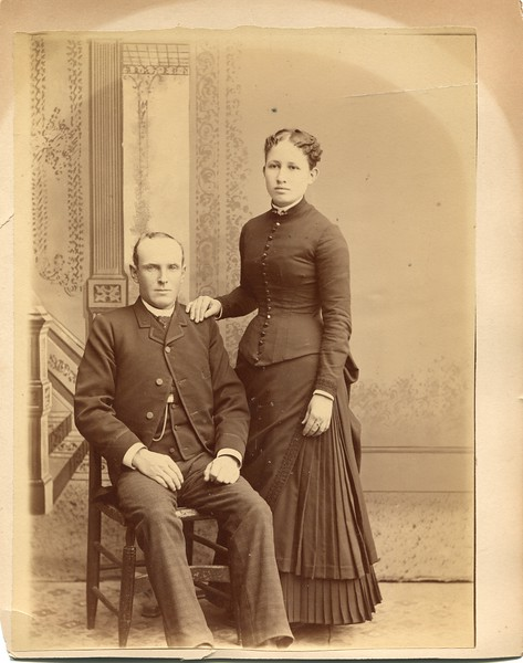 Frank and Clara Waugh Wedding Day March 18 1880's
