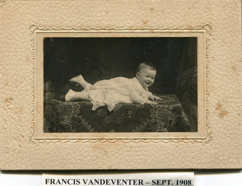 Francis VanDeventer Sept 1908