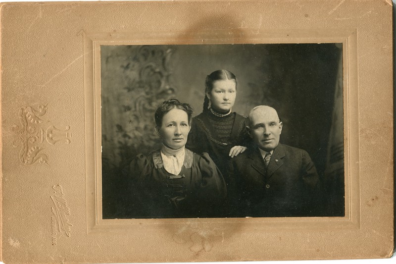 Frank and Clara Waugh and Ester Mills