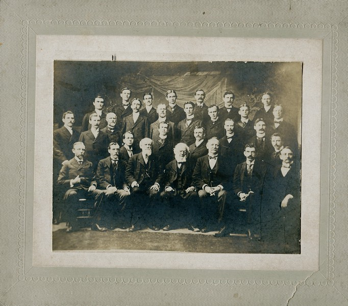 Edwin VanDeventer at Seminary in Philadelphia  First row, second from the right around 1890