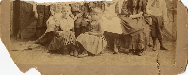 Ruth VanDeventer and Children broken photo