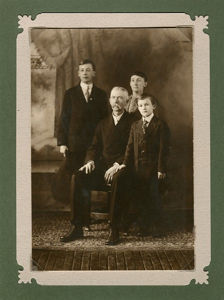 Edwin and Ruth VanDeventer with Francis age 9 and Eugene age 14
