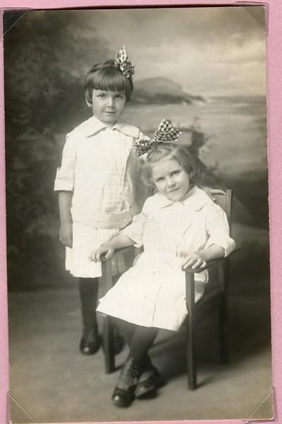 Alice Kame seated and Anna Bash
