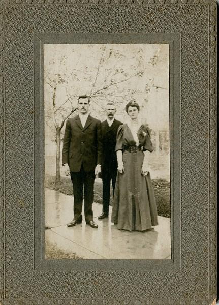 EP VanDeventer Richard and Eva Slowith Wedding Day Elmira NY October 10 1906