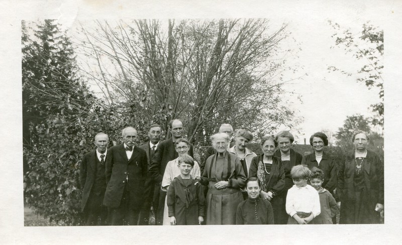 Robert and Eugene Pangborne, unknown, Jessie Whitehead, Ruth VanDeventer, Aunt Kate Hering, Jane Whitehead, Clara Waugh, unknown, Ruth Ferry, Elizabeth Waugh, Walter Whitehead, my cousin Ralph Whitehead