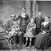 Eugene Pangborne, baby Ruth, Clara, Ella, Robert and Sarah PangborneMerged