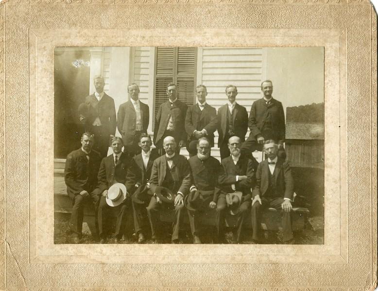 Ministers in Steuben Assoc Edwin VanDeventer bottom right corner
