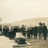 Rev E P  VanDeventer conducting a funeral
