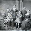 Eugene Pangborne, baby Ruth, Clara, Ella, Robert and Sarah Pangborne