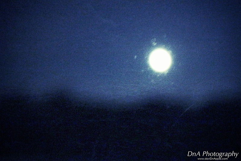 On the way to Teluk Intan for Indian wedding shoot, and i saw a full moon out from car window. It was actually an out of focus shot but it look like a painting to me.