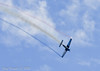 Julie Klatt Performs Aerial Acrobatics at Wings Over Houston 2010 at Ellington Field in Houston, Texas