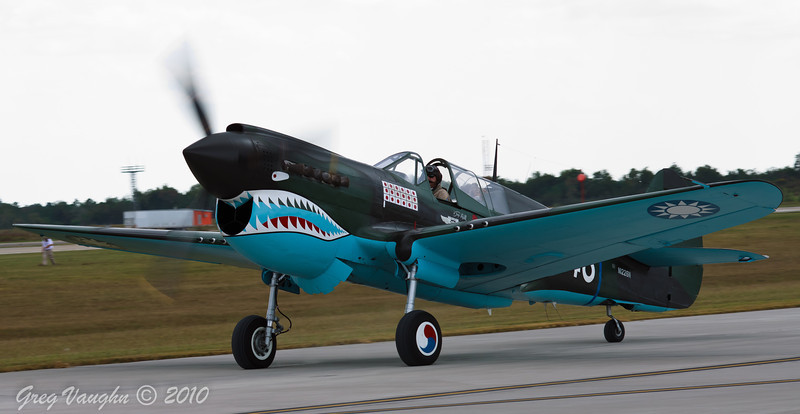 Curtiss P-40 Warhawk at Wings Over Houston 2010 at Ellington Field in Houston, Texas