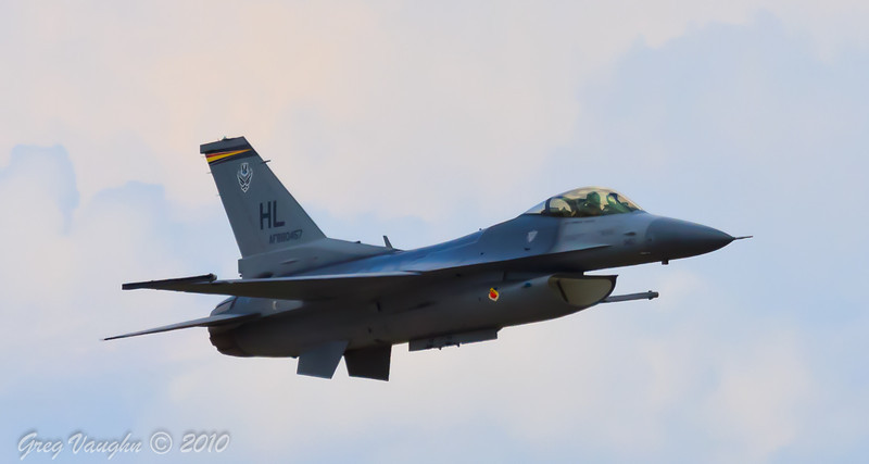 F-16 Fighting Falcon Performs at Wings Over Houston 2010 at Ellington Field in Houston, Texas