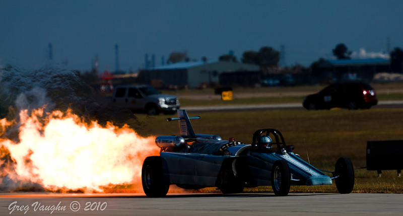 Jet Engine Dragster at Wings Over Houston 2010 at Ellington Field in Houston, Texas