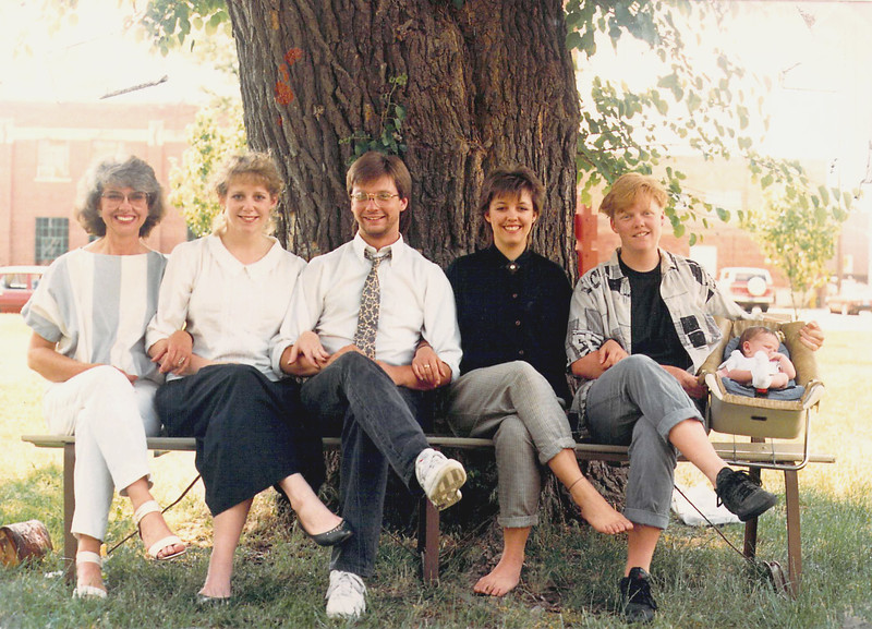 Carol and kids late 80s