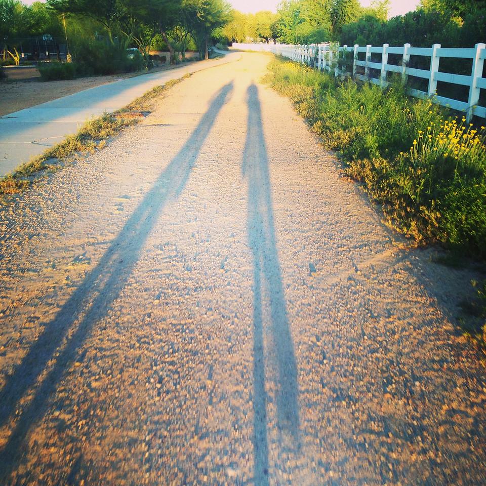 biking shadows
