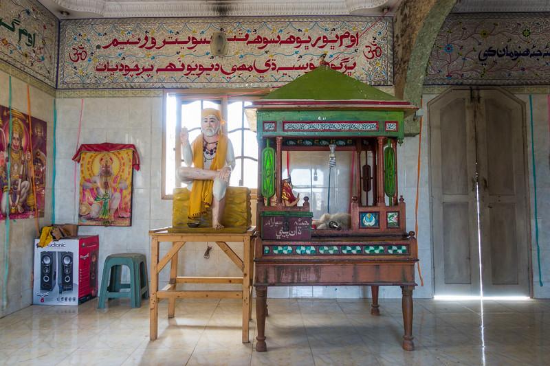 The main room of the Hamuman Mandir.