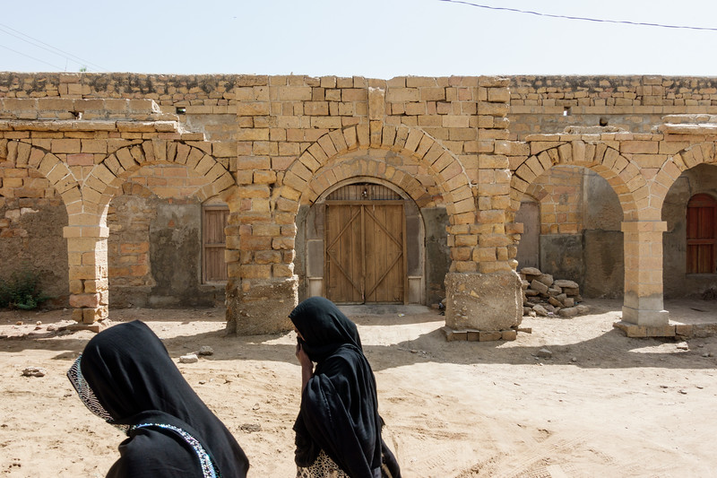 An old house in Thatta in the old city section.