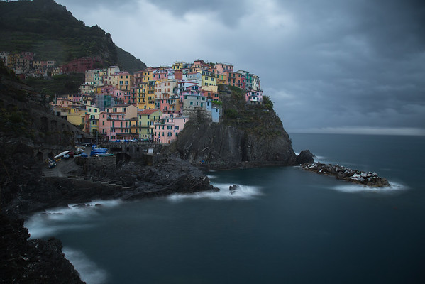 Stormy Evening in Manarola, Cinque Terre, Italy