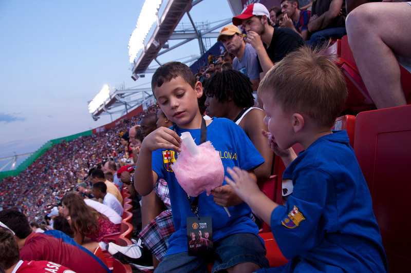 Who cares about the game? We have cotton candy!
