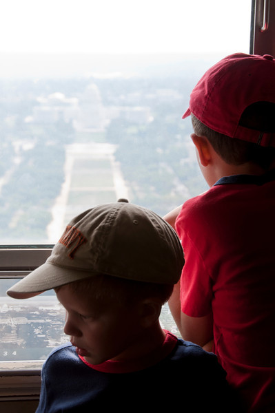 Looking towards the Capitol from the top of the Washington Monument