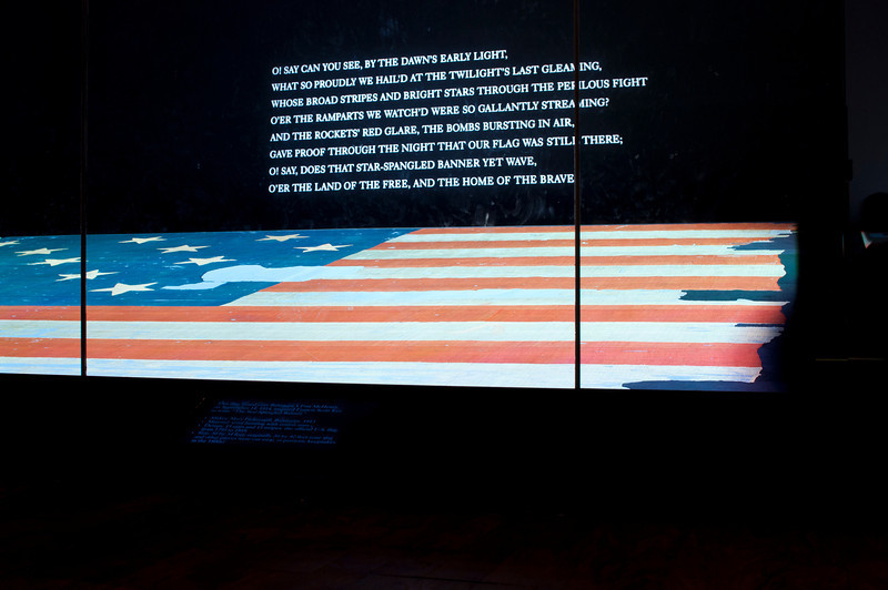 actual flag that inspired the Star Spangled Banner