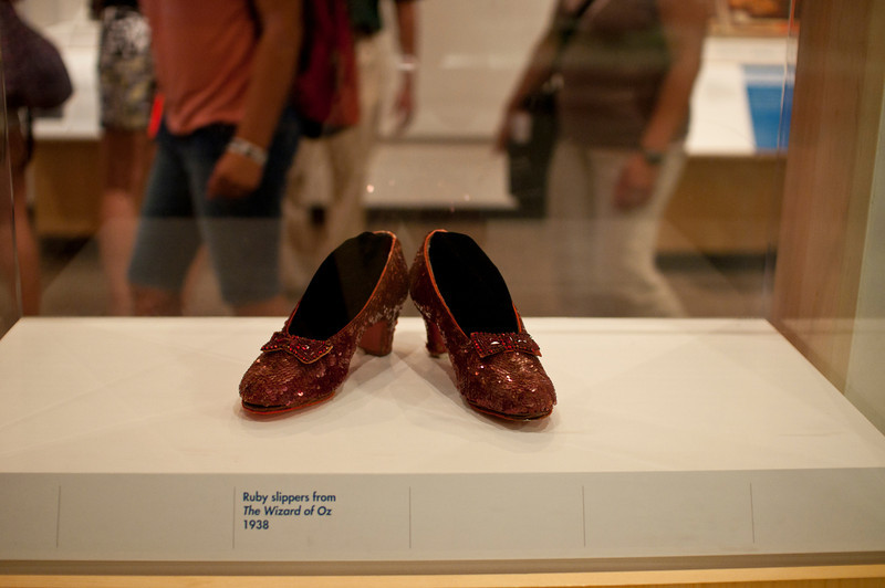 American History Museum: ruby slippers from The WIzard of Oz