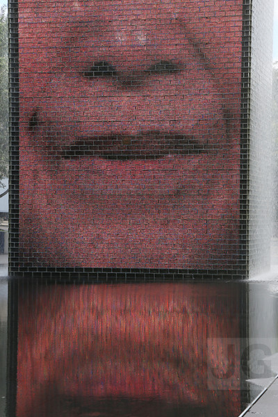 Jaume Plensa's The Crown Fountain at Millennium Park<br /> Chicago, Illinois - 09.17.13<br /> Credit: Jonathan Grassi