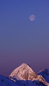 Peaking at the Moon, SnowBird, Utah