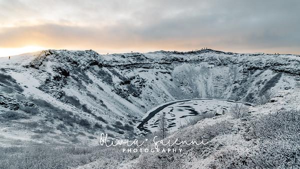 Sunrise at Kerið Crater