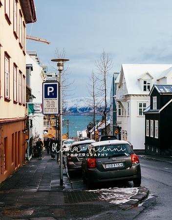 City Street + Mountain