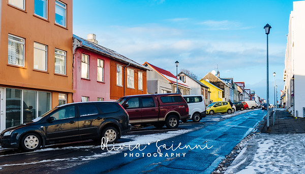 Colorful Homes in Reykjavik