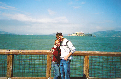 In front of Alcatraz in San Francisco, CA March 2004