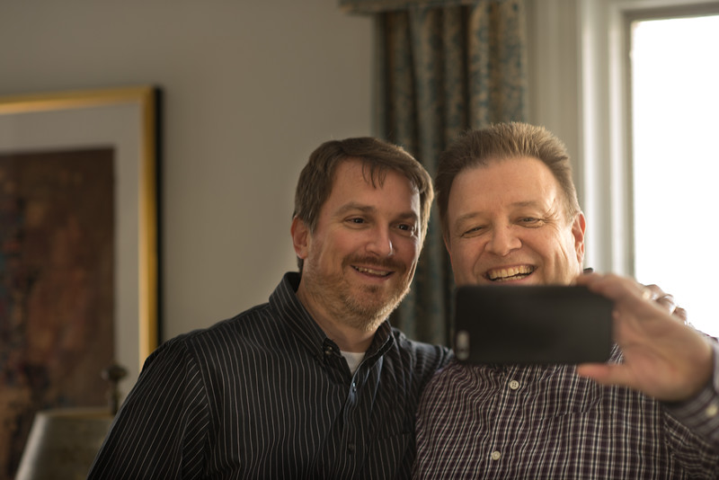 Mark & Barry do the Selfie Thing