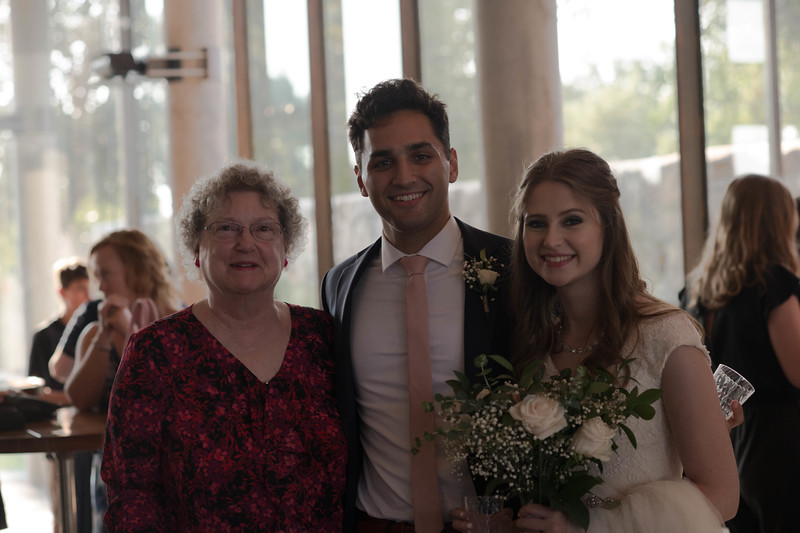 Great Aunt Nancy with Gabe & Becca