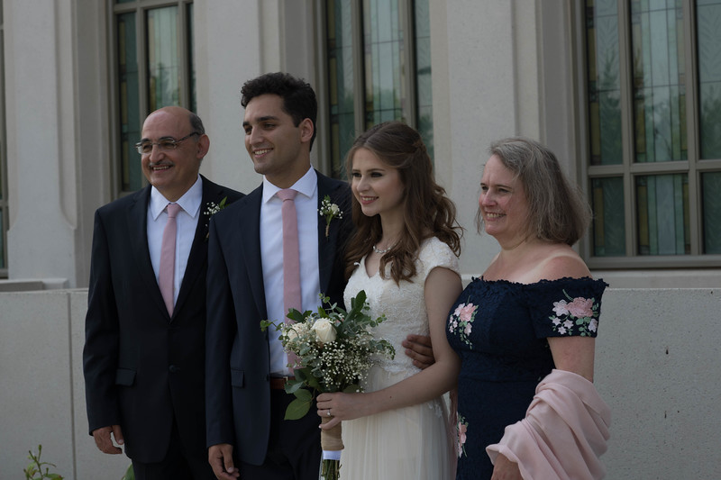 Bride & Groom and the Groom's Parents