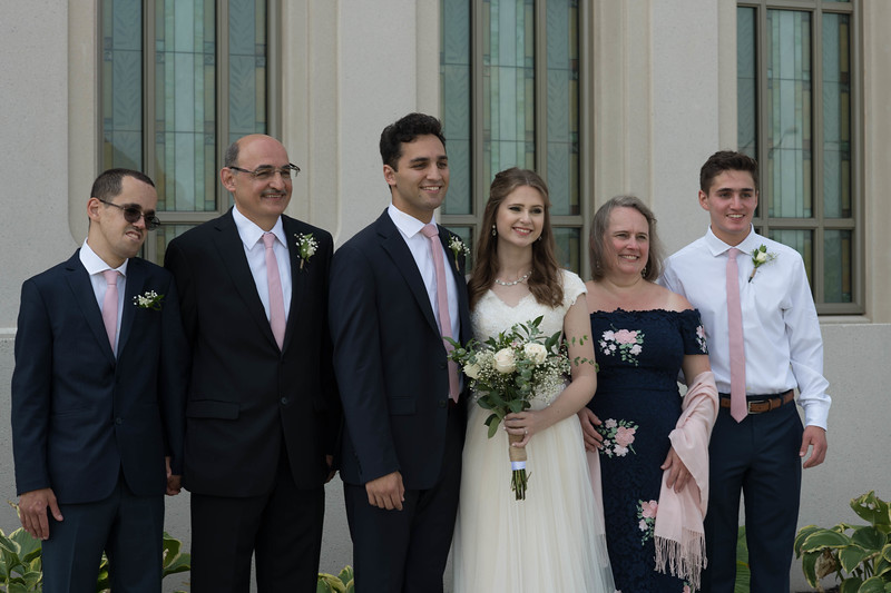 Bride & Groom and the Grooms Family