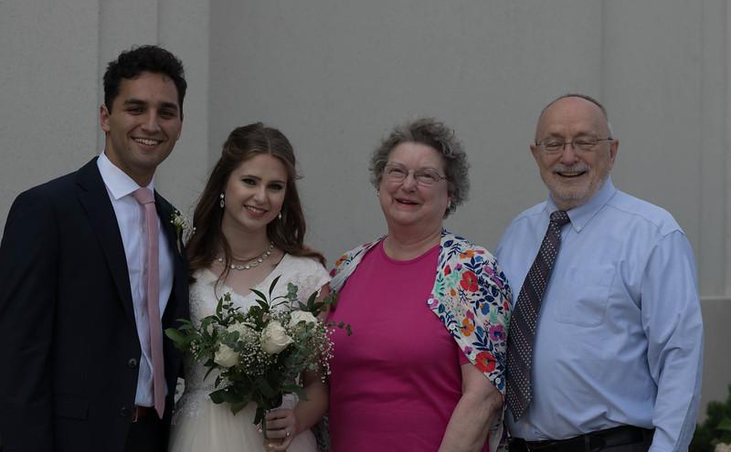 Bride & Groom with Great Aunt Nancy & Great Uncle Bob