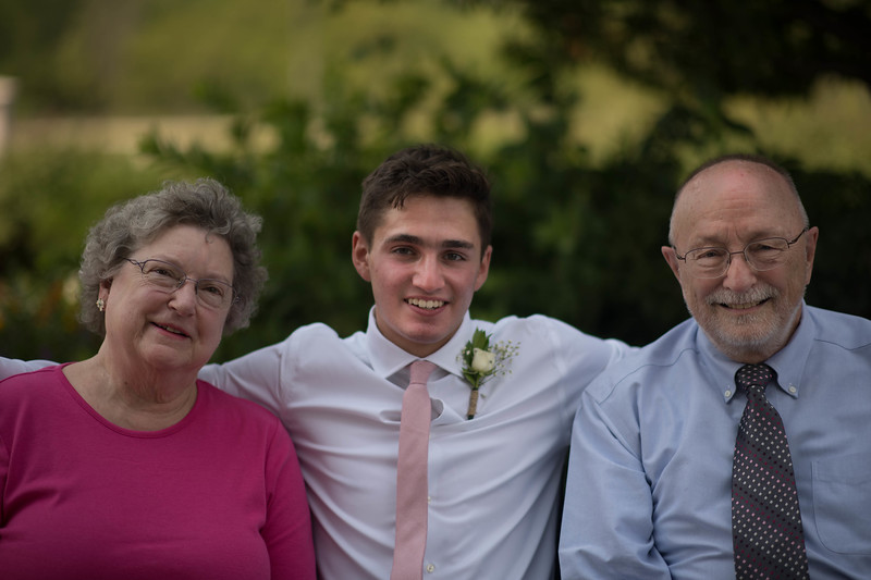 Linus with Great Aunt Nancy & Great Uncle Bob