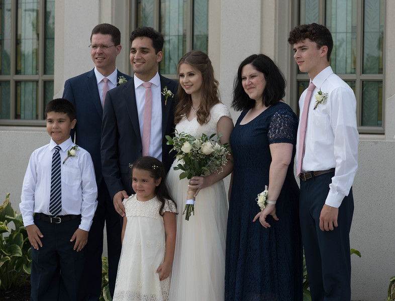 Bride & Groom with the Bride's Family