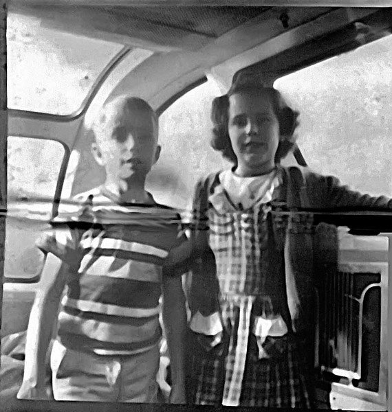 """After a Visit to Arlington, We Traveled on the """"Vista Dome"""", Crossing the Country (1950)"""
