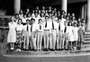 Lani's 6th Grade Class (She is 3rd from the Right in the 2nd Row) (Honolulu)