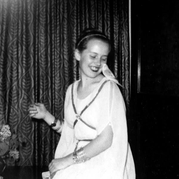 Lani with Boy Blue at Grandma Boyd's House (1954)