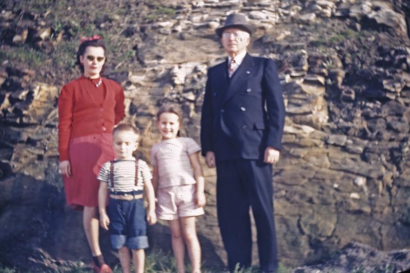 Mother, Bobby, Lani, & Pops near His Cliffside Home in Santa Cruz