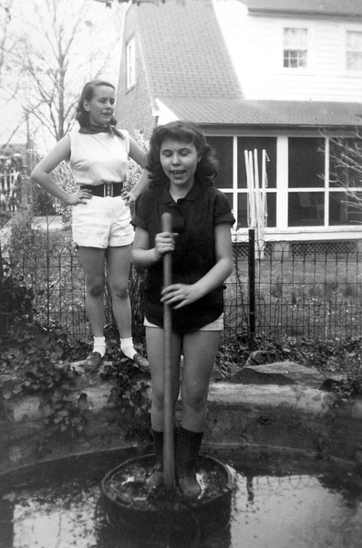 Lani & Helen Cleaning Out Grandma's Fishpond