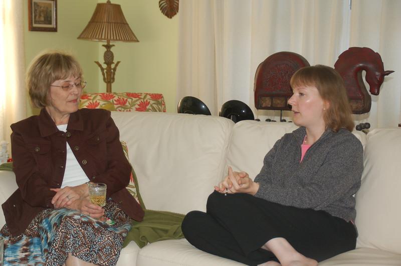 Lani and Kimberly at Bob & Nancy's House for Bob's Birthday in 2007